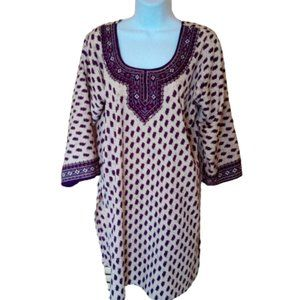 Indian Style Tunic Top Blouse Fits XL